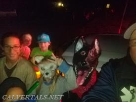 Lots of scary characters in Cove Point Woods, thank god all they wanted was candy...