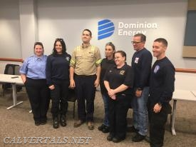 Paramedics Mumper and Schapiro along with members of Solomon's VFD get a chance to see the patient they saved back in October.
