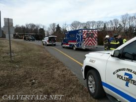 St.Leonard, CALS, and Prince Frederick Rescue Squad on Rt-4 North at Governors Run