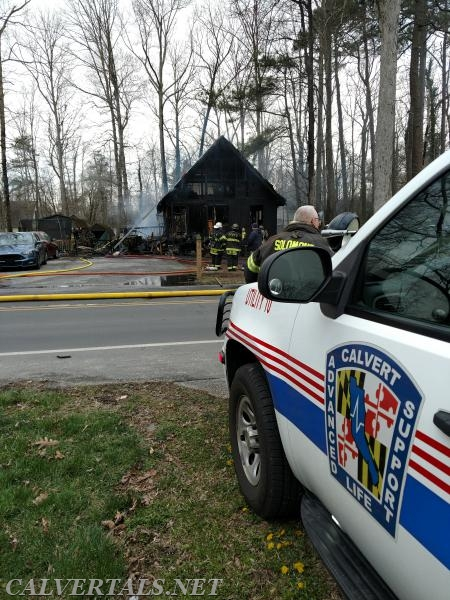 CALS on scene of house fire in the Chesapeake Ranch Estates today.
