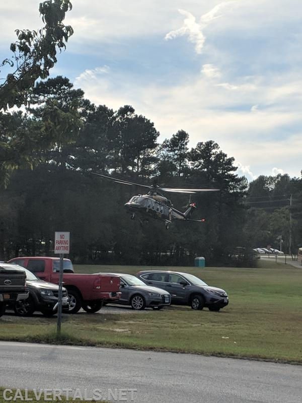 MSP trooper 7 on final for the pediatric traumatic injury at the elementary school.