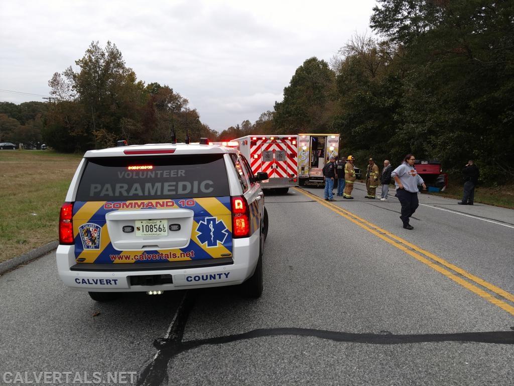 Medic Units on scene of the crash