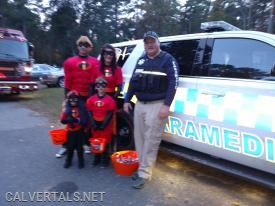 Chief 10 in Lusby with trick or treater's.