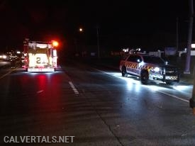 Chief 10 on location of the head-on collision in front of Co.4