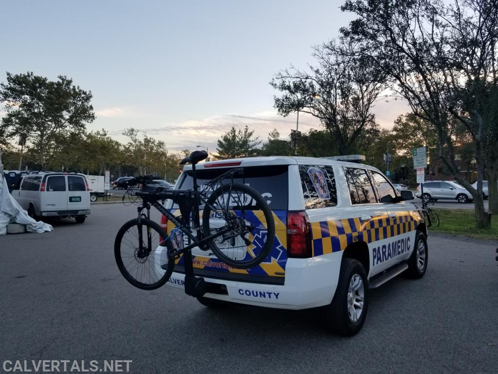 M105 with EMS Response Bikes (Provided by area EMS) at the morning operations meeting