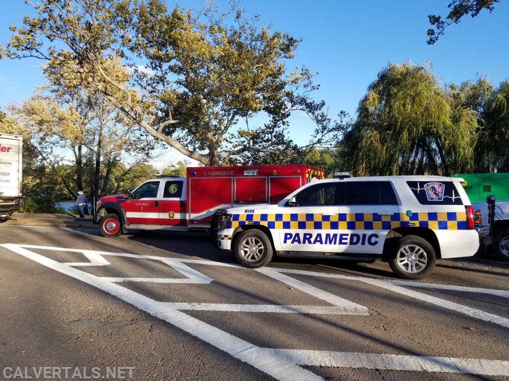 M105 standing by with Cambridge Fire Department ALS - Special Operations Unit