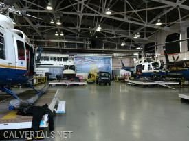 The NYPD hangar, so big this is just 1/3 of it.