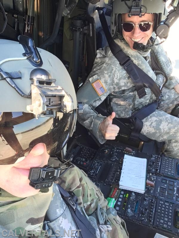 """Pilot in command and probably the last man still wearing the """"Top Gun"""" glasses.  At least the Co-pilot got the memo, that FAD ended two decades ago."""