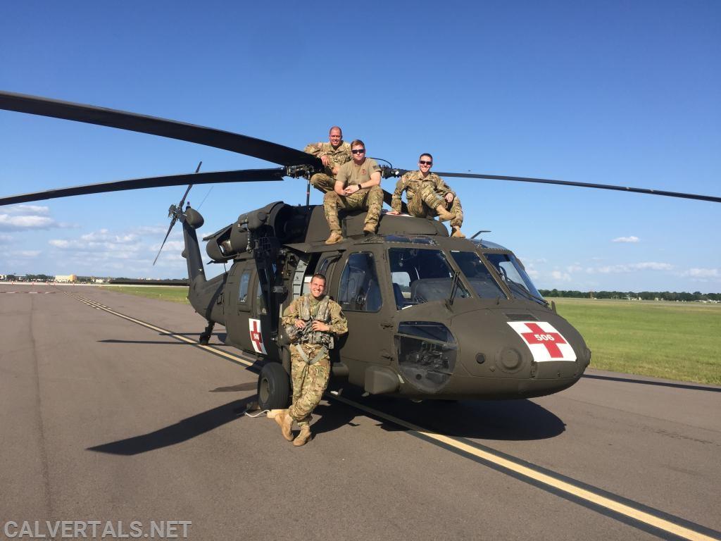 """CALS PMIC Schapiro, Pilot in Command of his UH-60 Blackhawk medevac, and according to him future """"Air 10""""."""