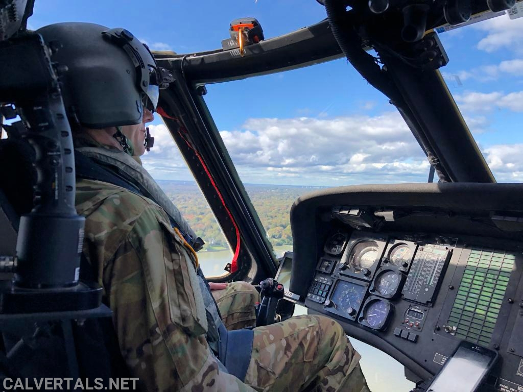 Rob flying over the Texas country side during simulations exercises preparing for deployment.