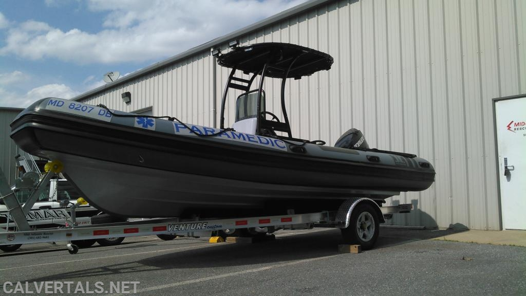 Boat 10 is a 20.2 ft rigid hull inflatable made by Inmar.  The boat is operated by a minimum of two providers and has several special featured such as side scan sonar.
