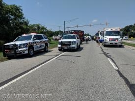 M103, Utility 10, Chief 10 all responded to a serious crash on Rt-4 @ Broomes Island Rd.
