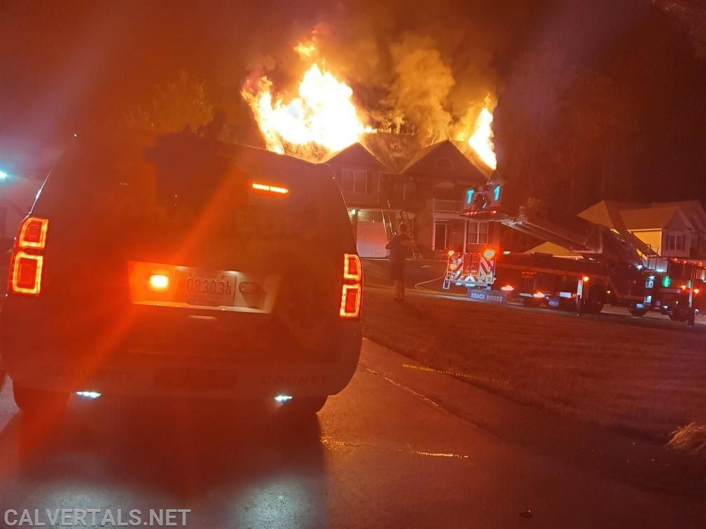 The fire moved quickly through the attic space and grew in intensity.