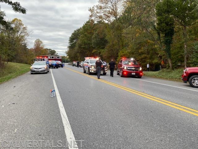 Units on scene of the accident on Dares Beach Rd.
