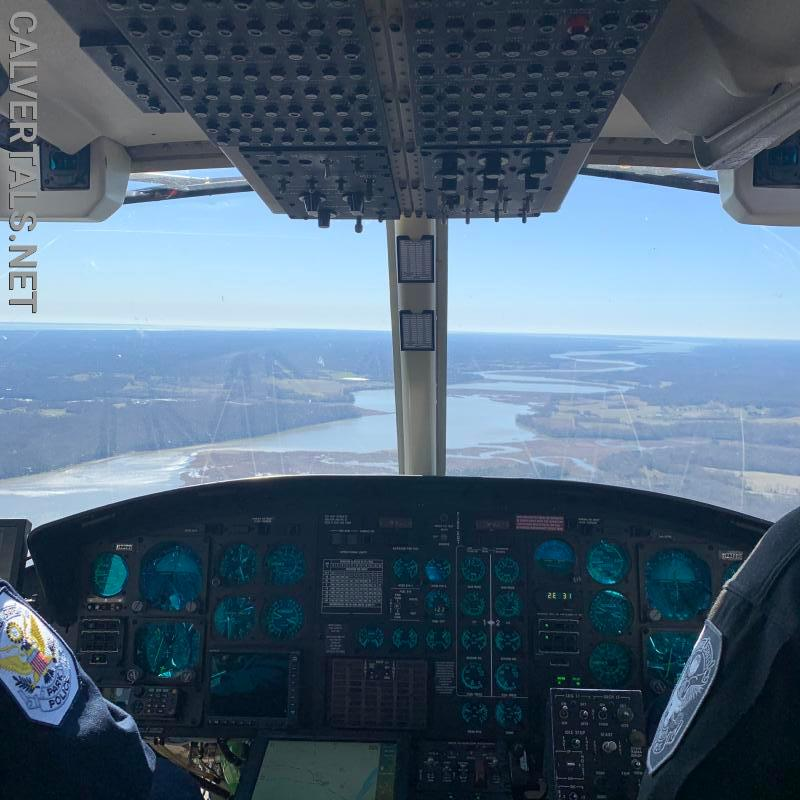 Rare view of Patuxent River coming into Calvert County From Prince Georges.  These are the views one can get if they fly with the medevac crews.