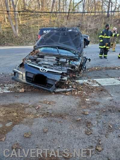 MVC on Rt-260, vehicle reportedly rolled several times before coming to rest in this position.
