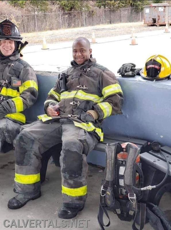 Member Marcus Paxton in the Baltimore City Fire Academy.
