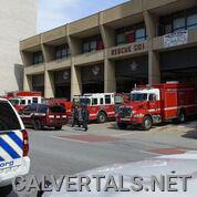 Units lined up at Baltimore City Steadman Station.