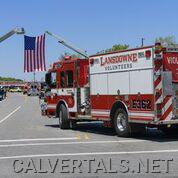 Lansdowne E362 in the procession.   Marcus was an active member of this department.
